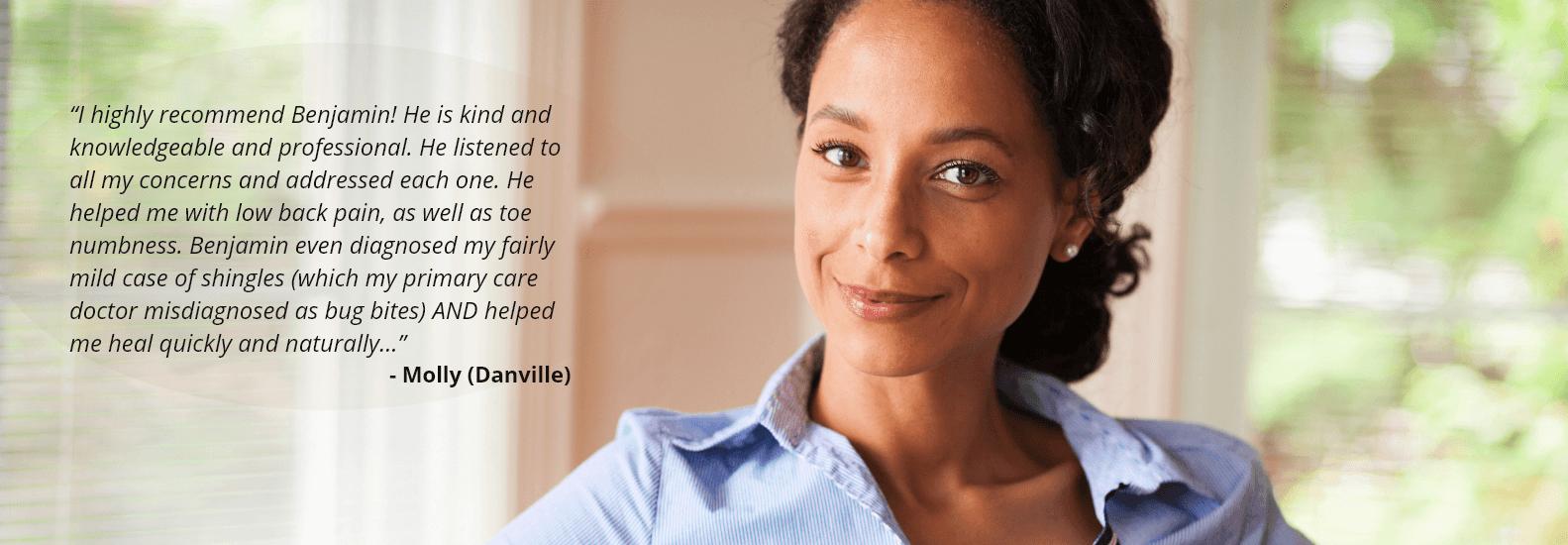 Molly (Danville) Testimonial - Acupuncture in Lafayette CA | Benjamin Dierauf