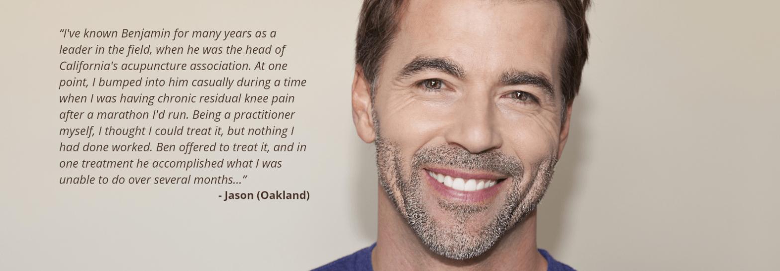 Jason (Oakland) Testimonial - Acupuncture in Lafayette CA | Benjamin Dierauf